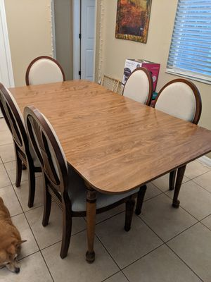 Dining table with six chairs for Sale in Brandon, FL