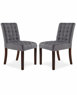 4 Poly and Bark Dane Steel Gray Dinning chairs for Sale in Alexandria, VA