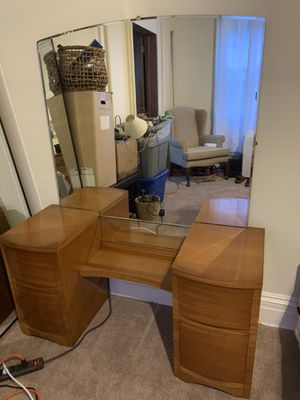 Hardwood Dresser + Mirror for Sale in Stamford, CT