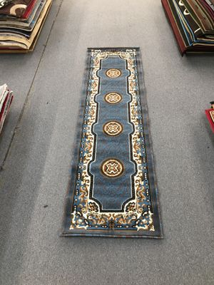 Blue and brown color hallway area rug brand new for Sale in Salem, OR