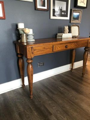 Modern Farmhouse Vintage-Inspired Solid Wood Entry Console Table for Sale in Aurora, IL