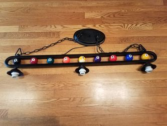 Single and triple pool ball light fixture for Sale in Fort Washington,  MD