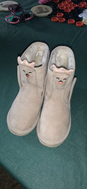 Old Navy cream beige swan toddler girls boots shoes size 11 for Sale in Alpine, CA