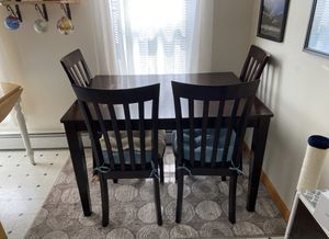 3' x 4' Dining room Table w/ 4 Chairs for Sale in Marlborough, MA