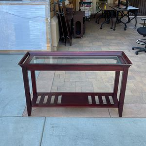 Wood And Glass Console Table for Sale in Yorba Linda, CA