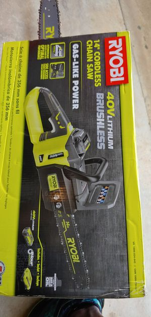 "Ryobi 14"" Cordless Chainsaw 40v lithium brushless for Sale in College Park, GA"