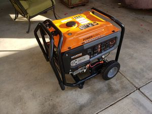 GP 8000-Watt Gasoline Powered Portable Generator with Electric Start and Transfer Switch Outlet for Home Backup for Sale in Corona, CA