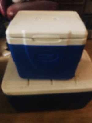 2 Coleman coolers $5 FOR BOTH!!!! for Sale in Las Vegas, NV