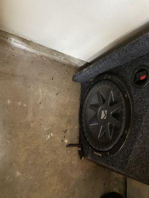 2 Kicker cvr 10in and 3000 watt planet audio amp for Sale in Baytown, TX