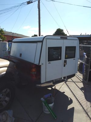 Camper shell with side doors for long bed truck for Sale in San Diego, CA