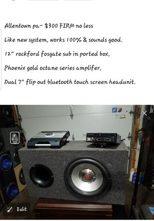 Car audio system sub amp tv bluetooth radio for Sale in Allentown, PA