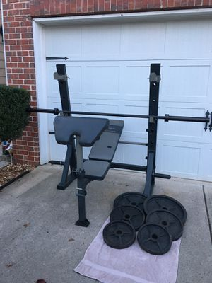 Marcy Bench/Squat Rack and Weights for Sale in Cumming, GA