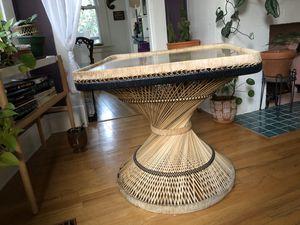 Wicker/rattan table for Sale in Portland, OR