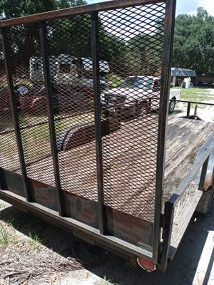 16 by 7 double axle trailer. New tires. New lights. for Sale in Auburndale, FL