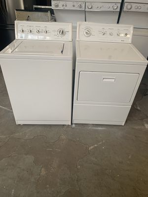 Set washer and dryer brand kenmor gas dryer everything is good working condition 90 days warranty delivery and installation for Sale in San Leandro, CA