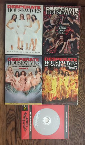DESPERATE HOUSEWIVES, SEASONS 1-5 DVD SETS for Sale in St. Peters, MO