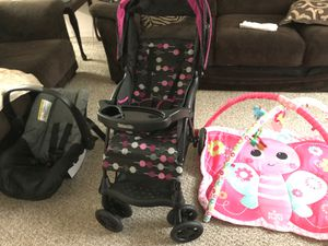Stroller, tummy time mat, and car seat for Sale in Brandon, FL