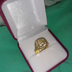 18 K Gold Filled White Sapphire Engagement Ring, Size 6. for Sale in Dallas,  TX