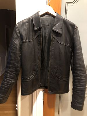 Heavy leather jacket for motorcycle riding or fun fashion for Sale in Maple Valley, WA