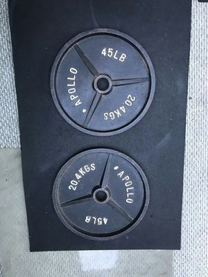 Pair of Olympic 45lb Weights Apollo Brand for Sale in Westminster, CA