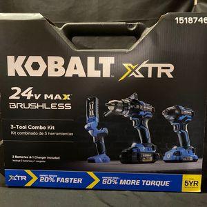 NEW Kobalt 24V XTR MAX Power Tool Combo Brushless for Sale in Renton, WA