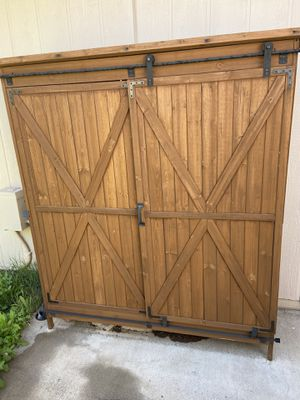 Barn Door Wood Garden Storage Shed for Sale in Tucson, AZ