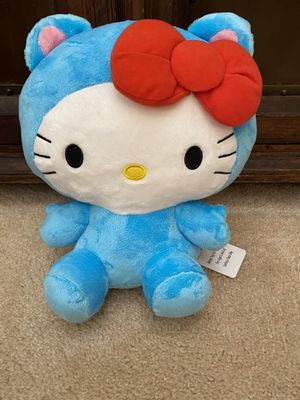 COMPLETELY BRAND NEW WITH TAGS SUPER CUTE LARGE SANRIO BLUE HELLO KITTY PLUSH DOLL!! for Sale in San Diego, CA