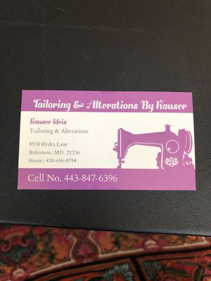 Tailoring & Alterations for Sale in Baltimore, MD