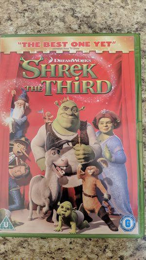 Shrek the third DVD movie for Sale in Menifee, CA