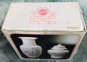 Porcelain ware rose pink, Vase and Jar for Sale in Garden Grove, CA