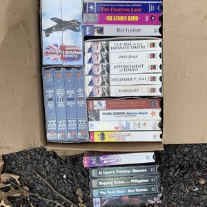 Box Of War VHS Tapes And three Stooges for Sale in Cheshire, CT