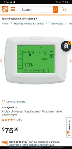 Honeywell 7 day program thermostat for Sale in Burtonsville, MD