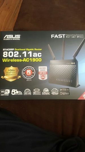 Almost new ASUS RT-AC68P Dual-band Gigabit Router for Sale in Denver, CO