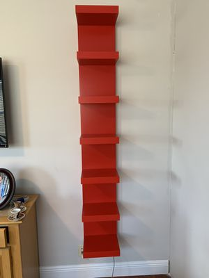 Red floating bookshelves (2 available) for Sale in West Palm Beach, FL