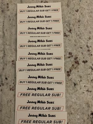 10 Free Jersey Mike's Subs Coupons for Sale in Plainfield, IL