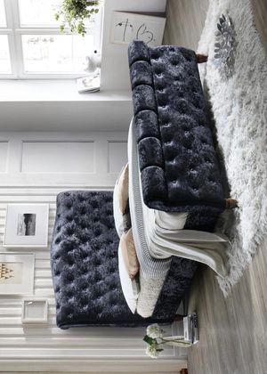 New black velvet queen size bed frame for Sale in Houston, TX