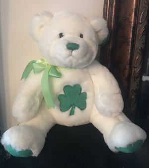 Rare Like New Shamrock Teddy Build a Bear, White, so soft for Sale in Sterling, VA