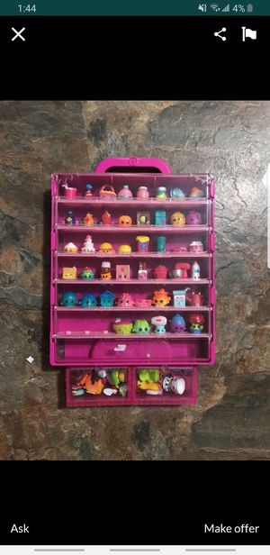 Shopkins are fun small little toys with cute faces on them for kids. this set comes with 69 shopkins of every day foods,clothes, and more for Sale in Laurel, MD