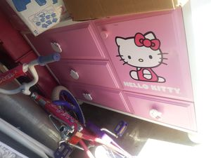 Hello kitty dresser, nightstand, and toy/book organizer for Sale in North Las Vegas, NV