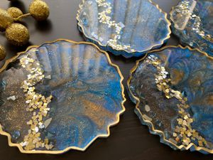 Beautiful Set Of Peacock Coasters (New) for Sale in Silver Spring, MD