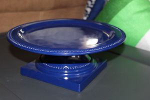 Melamine blue round cake stand for Sale in Riverside, CA