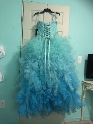 Blue & Turquoise Quinceanera/ Sweet 16 Dress for Sale in San Antonio, TX
