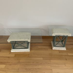 2 Glass Tables Great Condition And It's Nice Home Decor for Sale in Philadelphia, PA