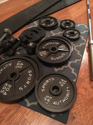 Matching Weight Set/ Home Gym for Sale in Powder Springs, GA