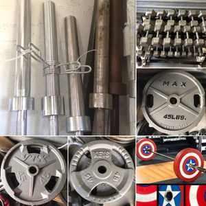 Barbells, Olympic Weight Plates, Dumbbells, Power Racks, Cages, Curl Bars, Gym Equipment for Sale in Davenport, FL