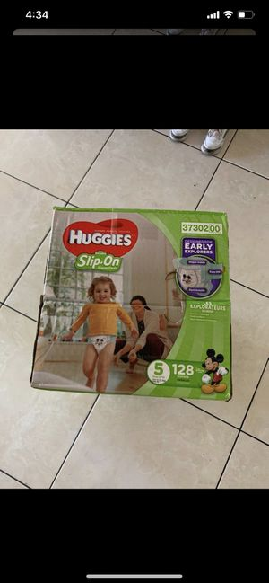 Huggies Little Movers Slip On Diapers Mickey Mouse Size 5 / 128 Count for Sale in Garden Grove, CA