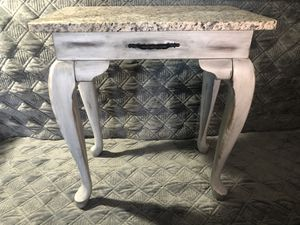 Distressed Mini Table with Granite Top for Sale in Tempe, AZ