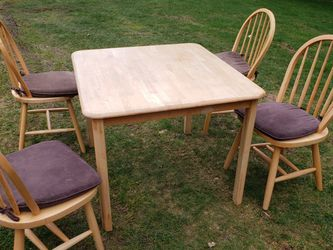 Solid Wood Dining Table And 4 Chairs for Sale in Maple Valley,  WA