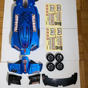 ARRMA LIMITLESS 1:7 All-Road Roller Pre-Painted Matte Blue Body With Front Wings, Front Splitter, 1/10 Scale Foam Tires, And Stickers for Sale in Rockville, MD