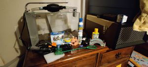 5 gallon fish tank set up - just add water & fish! for Sale in Portland, OR